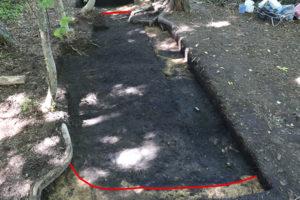 竪穴建物跡の確認状況です。