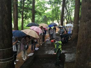 あいにくの雨天でしたが、たくさんの方に見学していただきました。